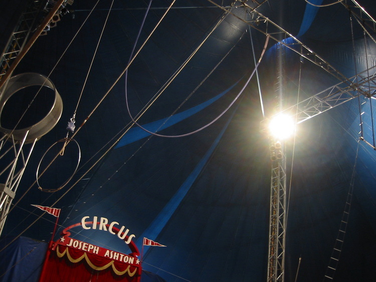 A view up to the top of the 'big top'