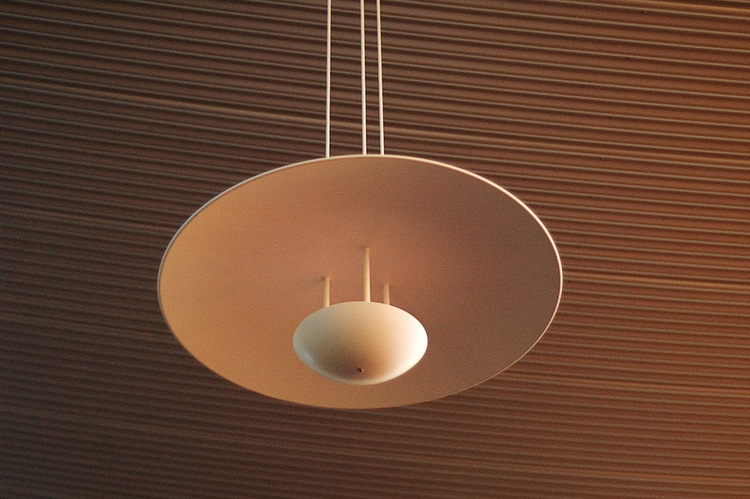 A semi-spherical light fittiing