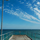 The sea and sky beyond a jetty
