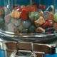 gemsones in a lolly (candy) dispenser