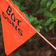An orange warning flag that reads 'BOT GDNS'